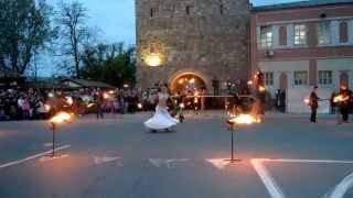 Файер шоу в исполнении театра огня «Вольфрам» - Евпатория, 02.05.2015