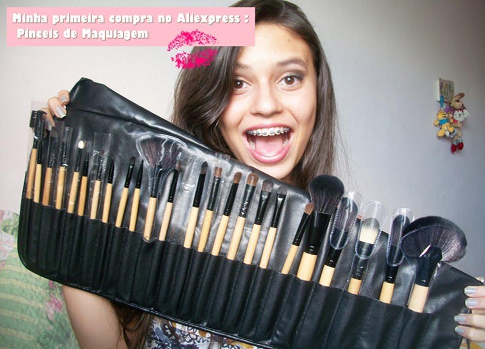 928df61223a Minha primeira compra no Aliexpress   Pinceis de maquiagem - YouTube
