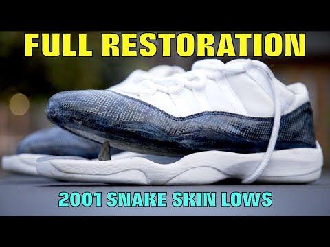 OG SNAKESKIN JORDAN 11 FULL RESTORATION!!