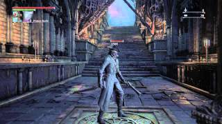 Bloodborne - Eileen the Crow final quest line, super easy cheese, bug.