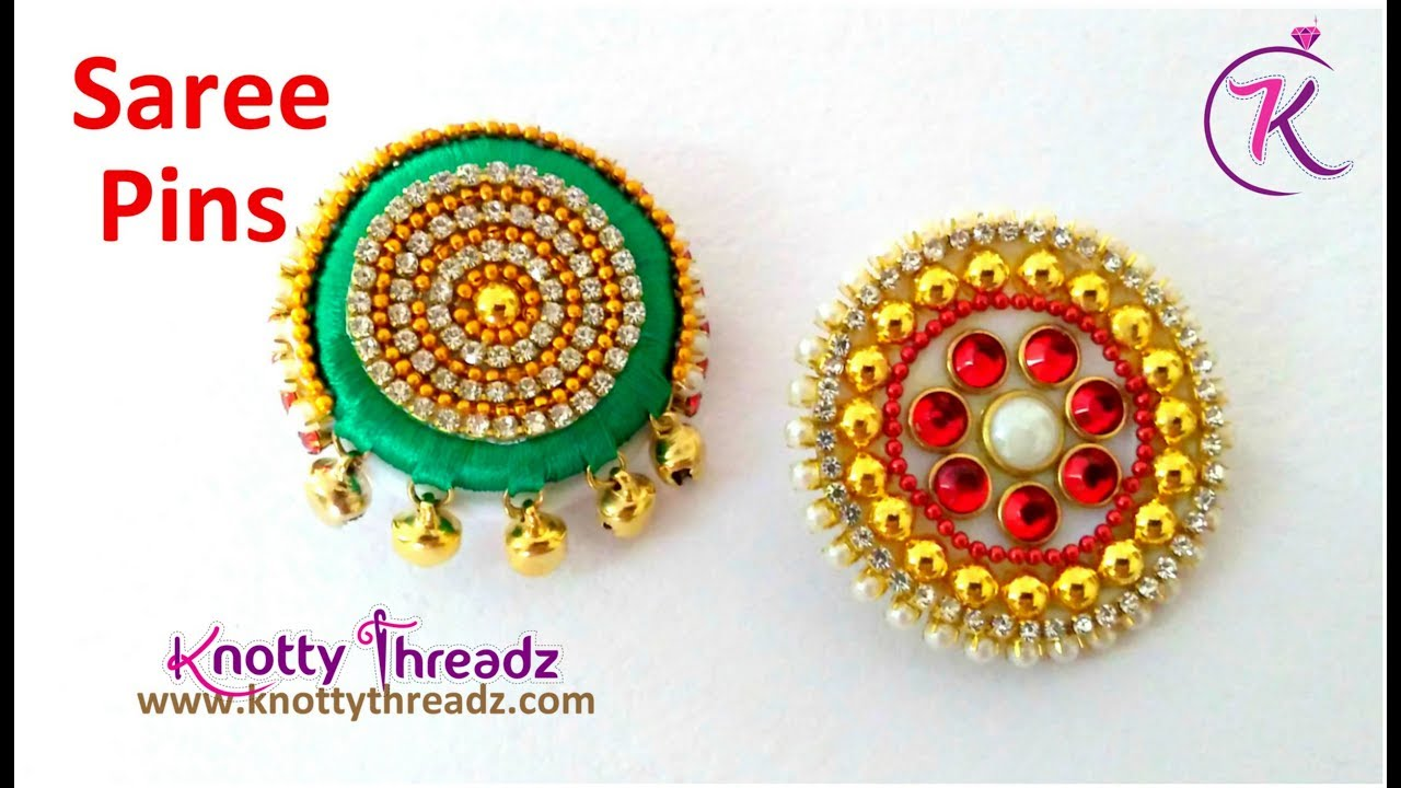 how to wear a brooch on a saree