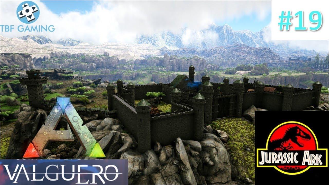 Valguero Castle Base Build - E19 Jurassic Ark - Valguero Map - Eco's Mods -  Ark Survival Evolved