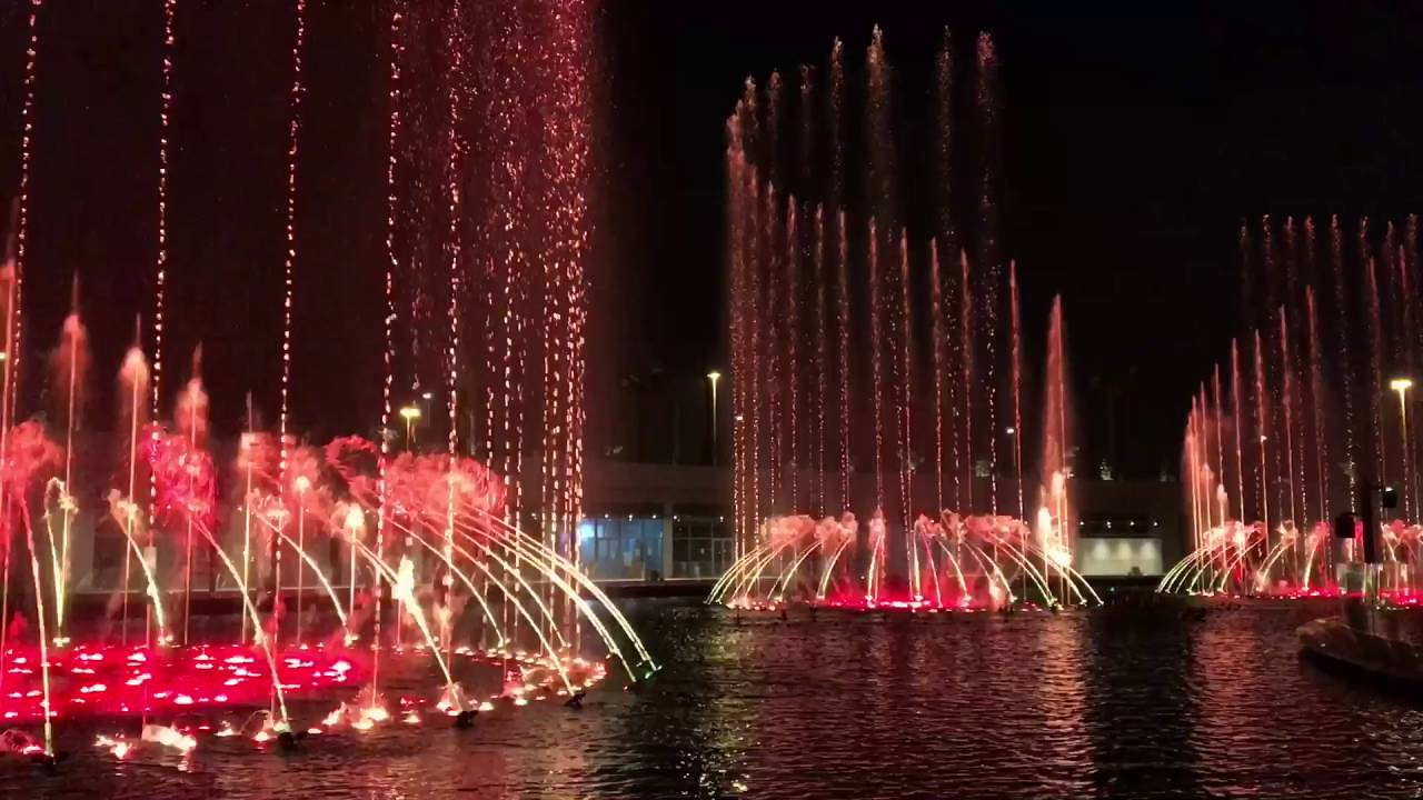Kuwait Cultural Centre Fountain Show - YouTube