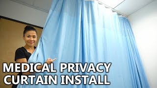 LARGE 20FT PRIVACY CURTAIN FOR MEDICAL | INSTALL AND REVIEW