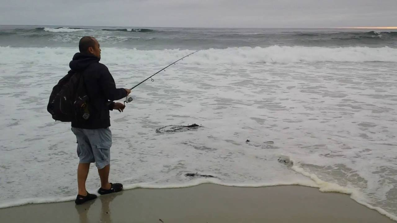 Ocean Beach Fishing In Central Coast