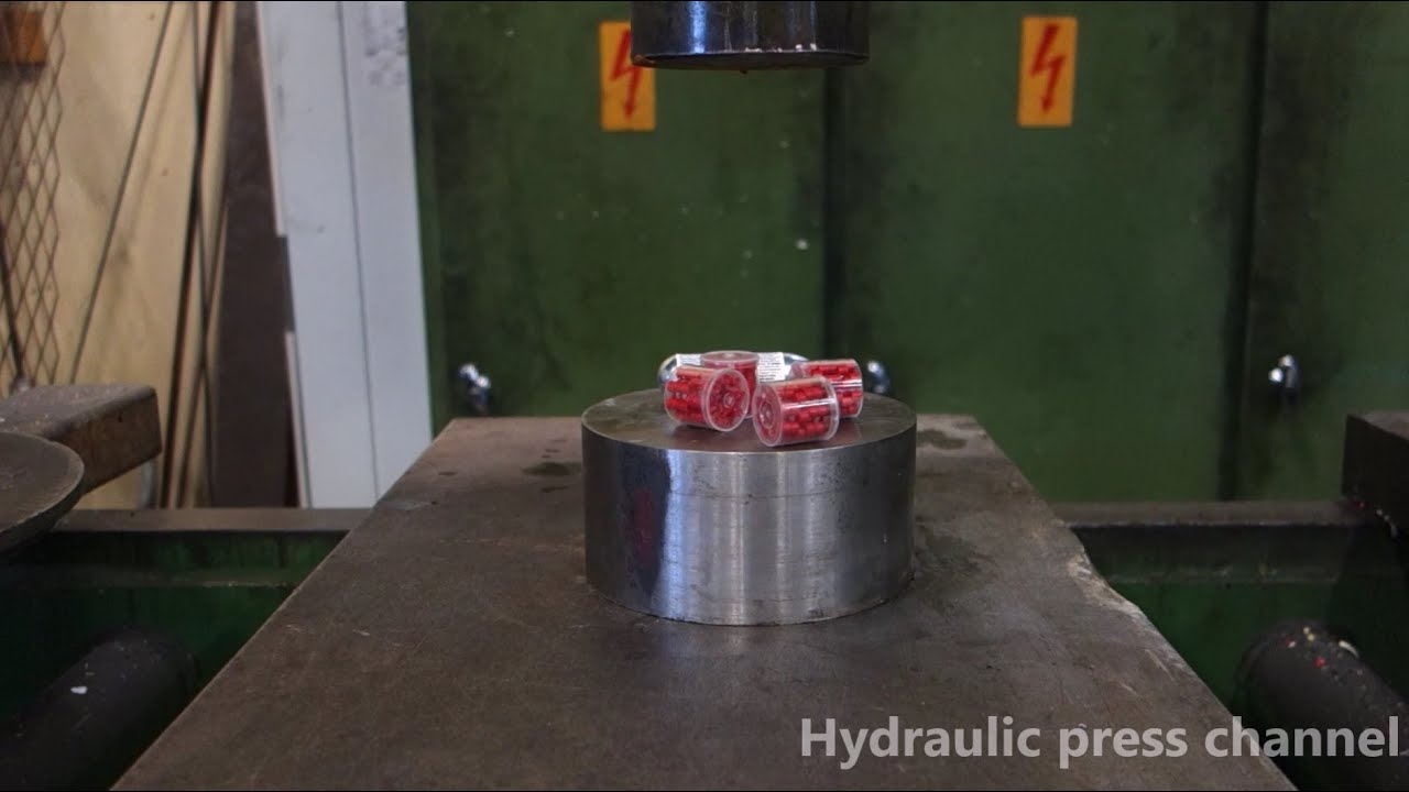crushing exploding stuff with hydraulic press doovi