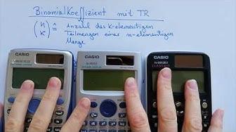 Binomialkoeffizient mit dem Taschenrechner berechnen (nCr + nPr) Casio 991 DE PLUS / DE X / ES