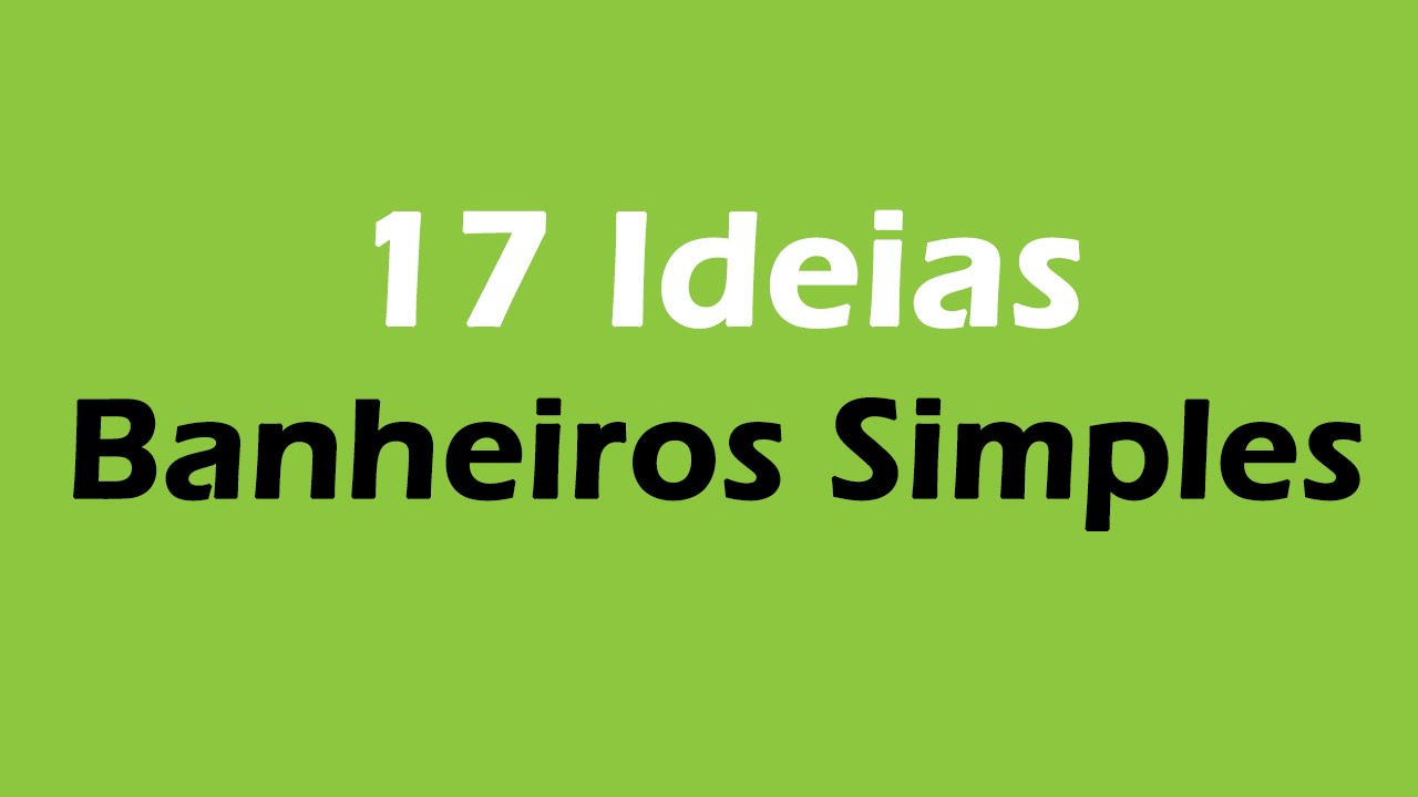 Banheiros Simpes  17 Ideias  YouTube -> Ideias Banheiro Simples