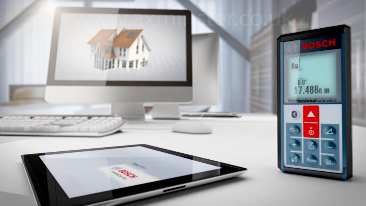 Bosch Laser Entfernungsmesser Software : Bosch glm c laser rangefinder with bluetooth youtube