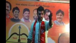 Actor Amol Kolhe campaigning for Mahayuti candidate Appa Barne