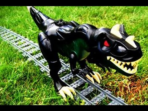 Lego - Train vs Dino (Jurassic Track)