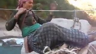 Amazing and Dangerous River Crossing in India