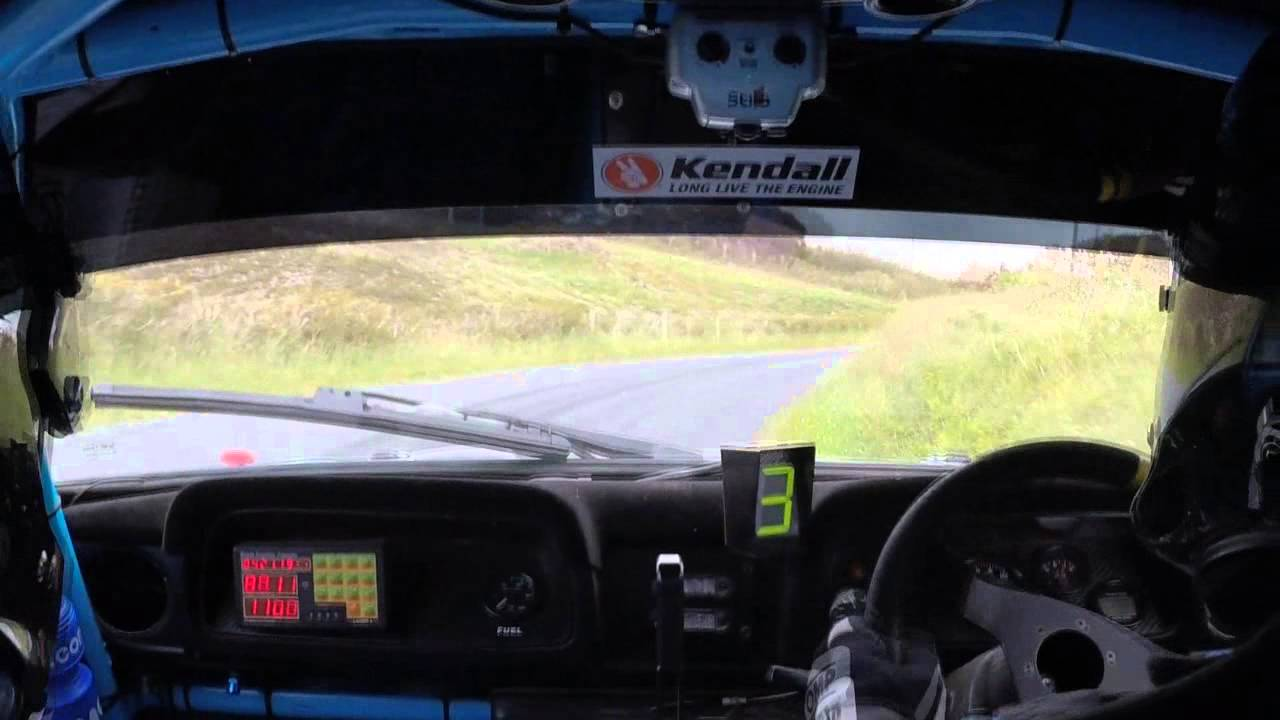 Rally team car race – Driver and navigator are perfectly in sync