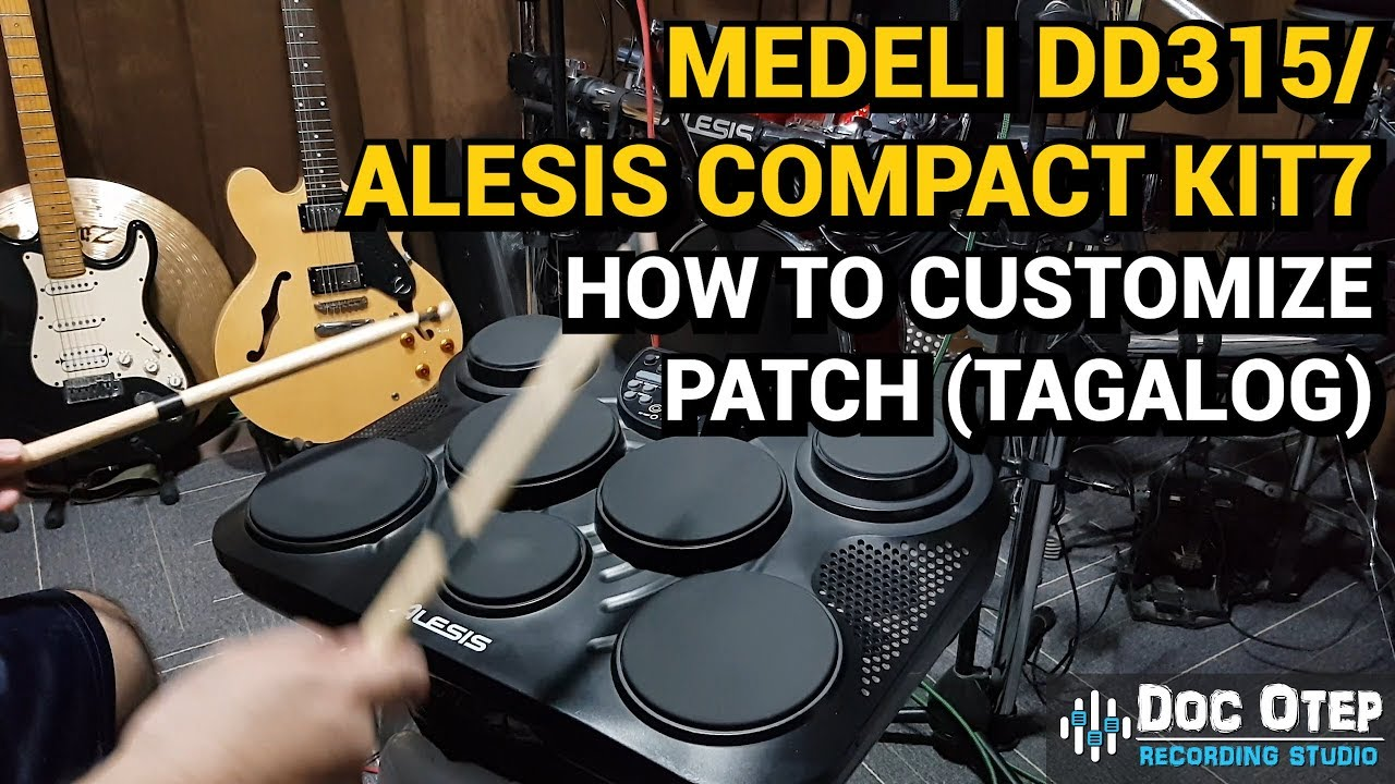 Medeli Dd315 Alesis Compact Kit7 How To Customized Kit Voice Sound Tagalog Youtube