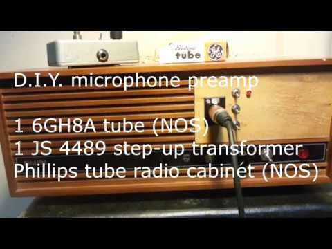 D I Y  tube mic preamp test