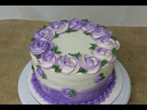Simple Rosette Ombre Cake Cake Decorating Youtube