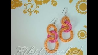 Πλεκτα Σκουλαρικια με Βελονακι/ Crochet Circle Earrings Tutorial