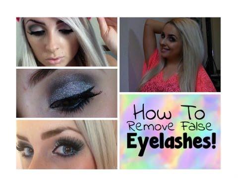 How To Remove Fake Eyelashes! - YouTube