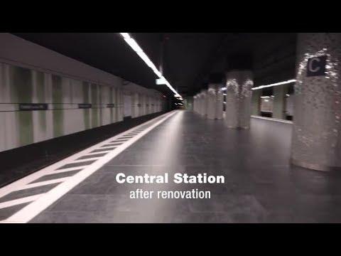 Estación de metro en Frankfurt