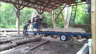 Milling Big Spruce With Baker 18m Bandsaw Sawmill
