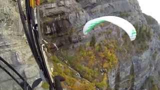 Paramotor Bridal Veil Falls!!! Powered Paragliding Exploration Of Mountain Canyon Waterfall!!