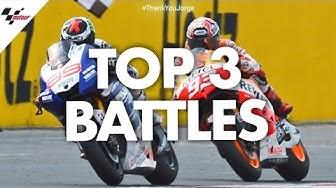 Jorge Lorenzo's top 3 battles!   #ThankYouJorge