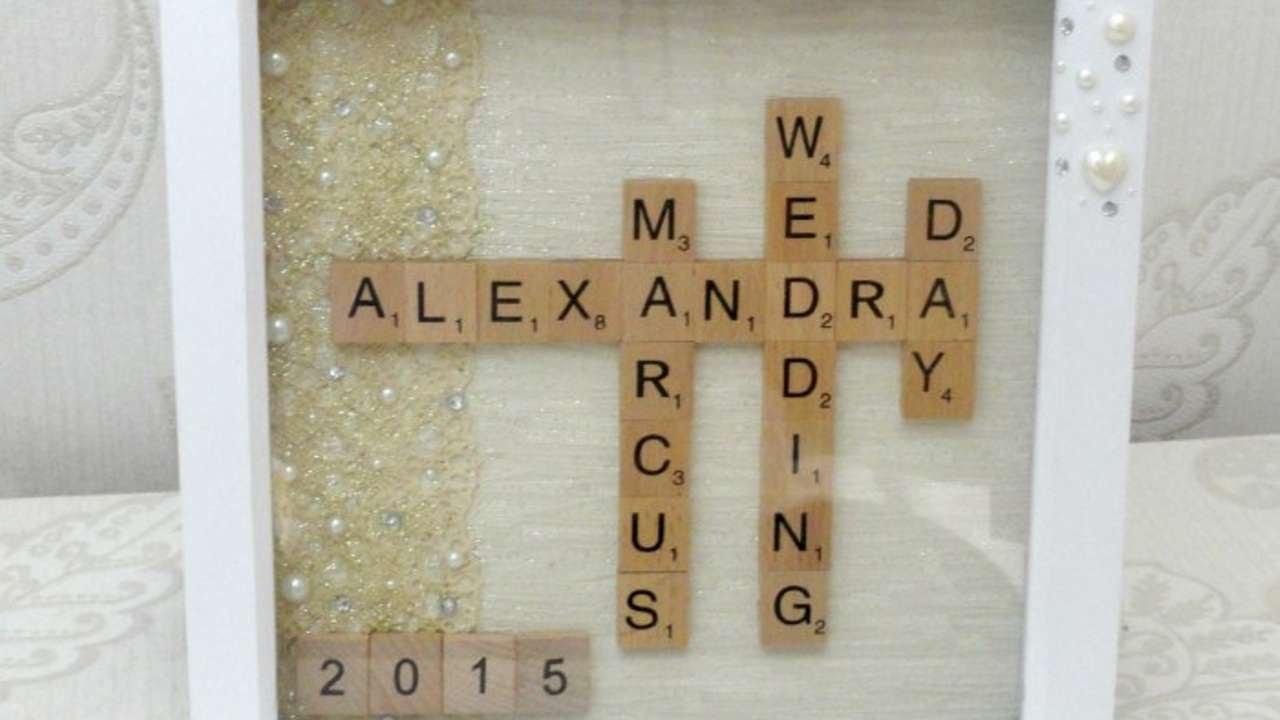 How To Make A Unique Wedding Gift Scrabble Art Diy