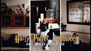a very harry potter halloween | decorate with me 2019