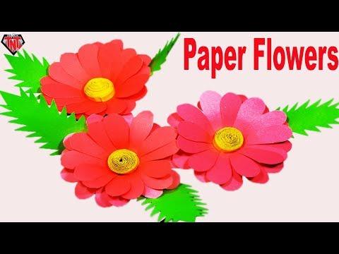 How To Make Paper Dahlia Flower || DIY Color Paper Best Dahlia Step by Step Tutorial