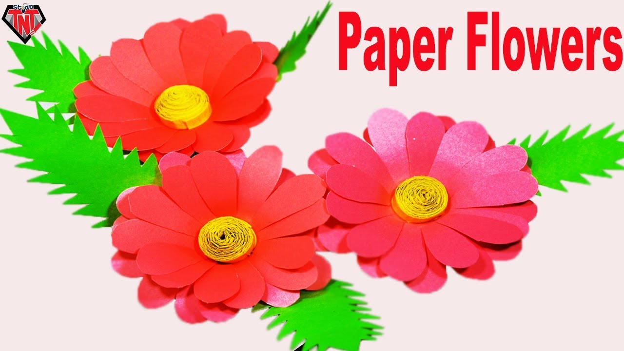 How To Make Paper Dahlia Flower || DIY Color Paper Best Dahlia Step ...