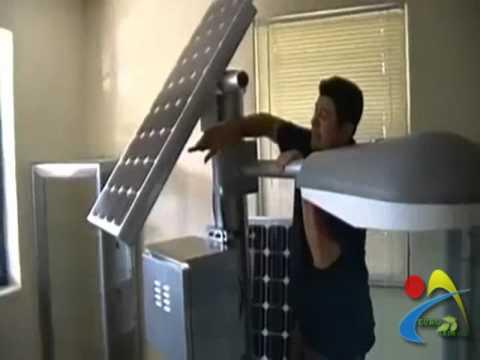 Kit alumbrado publico farola solar y leds youtube for Alumbrado solar jardin