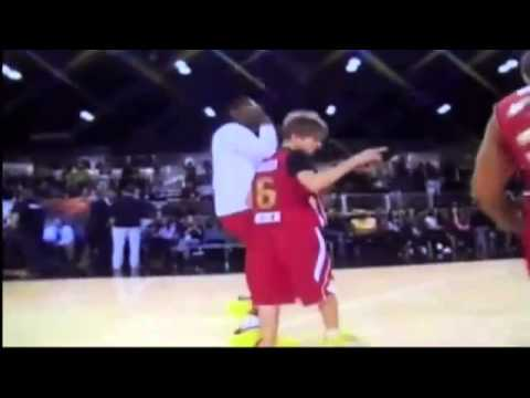 Justin Bieber Gets Hit In The Head Twice at NBA Celebrity All Star Game