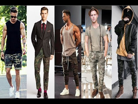 Camo Pants Outfits For Men/ Military Fashion For Boy