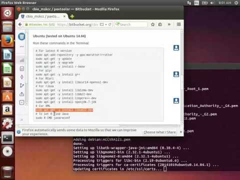 Pathway Commons in R: Install PaxtoolsR in Ubuntu Linux
