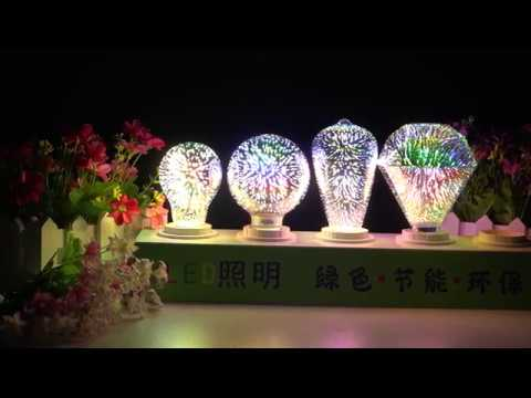 LED 3D Light Bulb Colorful Decorative Lamp
