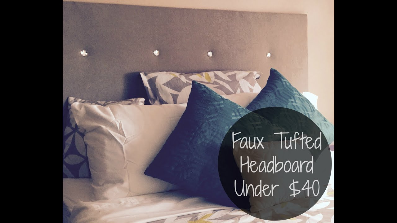 Do it yoself faux tufted headboard under 40 easy youtube solutioingenieria Images