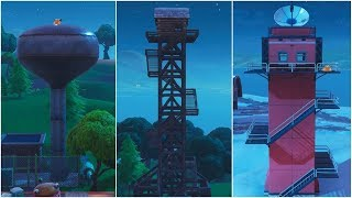 Fortnite Battle Royale - Dance on top of a Water Tower, Ranger Tower & Air Traffic Control Tower