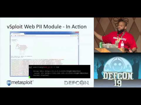 DEF CON 19 - Carey, Rude, and Vandevanter - Metasploit vSploit Modules