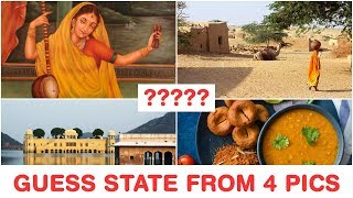 Guess Indian States from 4 Pics - Part 1 - Famous things, foods and places