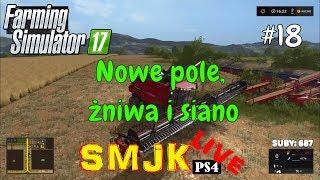 🔴 Nowe pole, żniwa i siano Nowa Ameryka - Farming Simulator 17 PS4 PL LIVE #18
