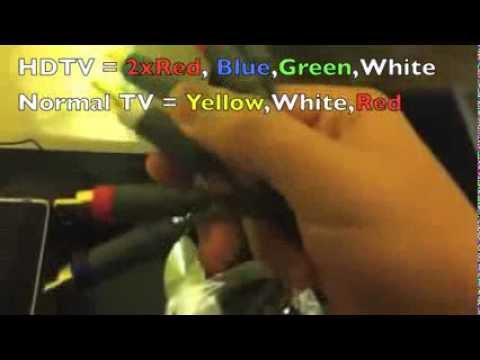 How To Connect Xbox 360 To HDTV Using Component HD AV Cable