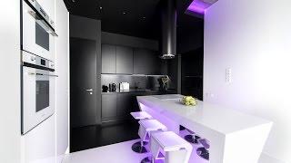 Черный кухонный гарнитур: обзор лучших фото в интерьере