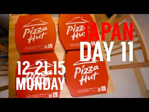 Robby's VLOG // Japan Day 11 // Pizza Hut in Japan