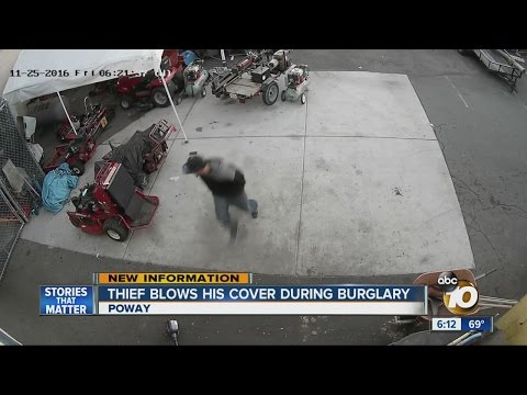 Thief blows his cover during Poway burglary
