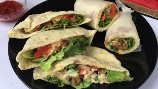 বীফ পকেট শর্মা (চুলায় তৈরী) || ইফতার রেসিপি || Bangladeshi Shawarma Recipe || Pocket Shawarma