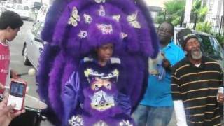 Indian Tribes meet in the Treme on Mardi Gras Day