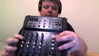 zmx 862 6channel 2 bus mixer lto professional unboxing