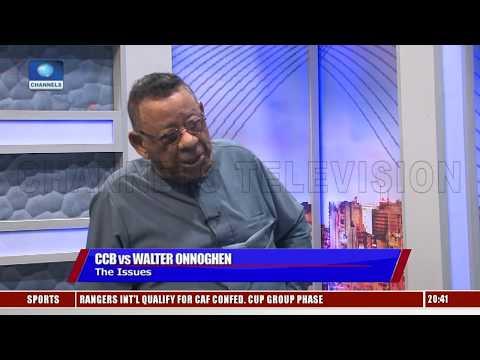 I Support FG's Probe Of Justice Onnoghen, Says Robert Clarke Pt.3  Sunday Politics 