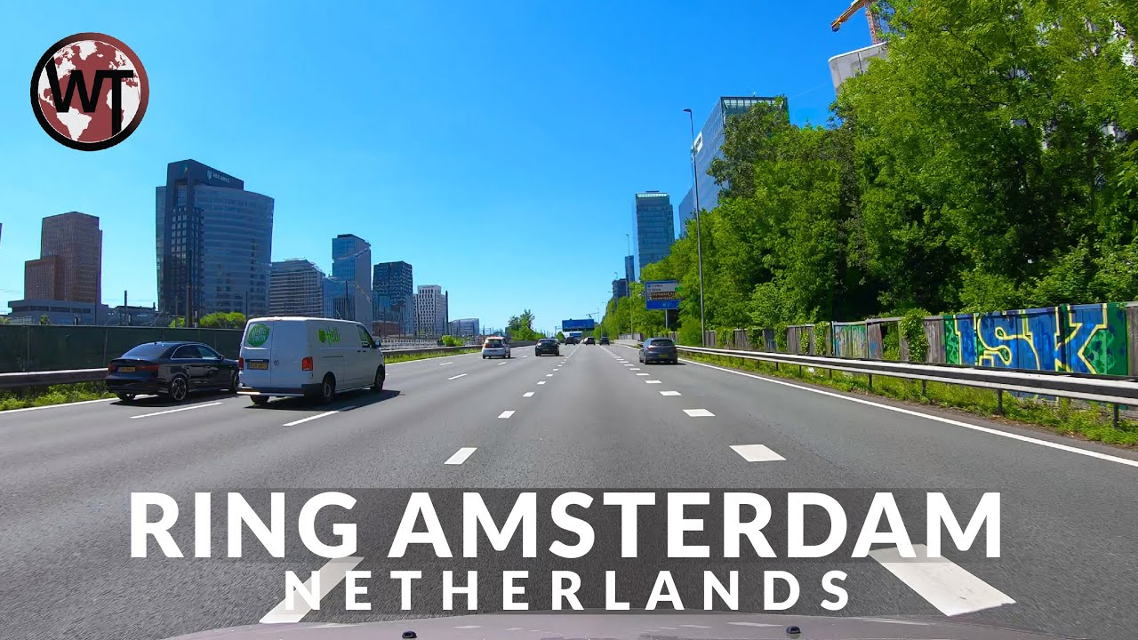 A10 Ring Highway of Amsterdam, Full Coverage - 🇳🇱 Netherlands - 4K Driving Tour