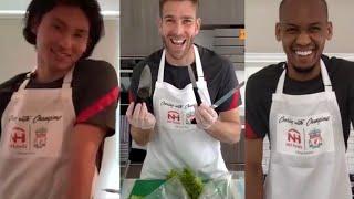 Cooking with Champions Challenge: Minamino v Fabinho v Adrian